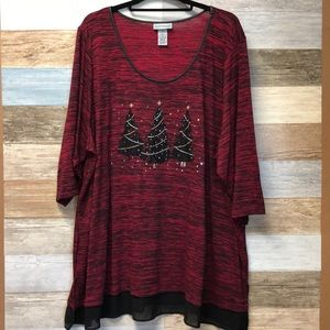 Catherines Plus Size 2X Christmas Top
